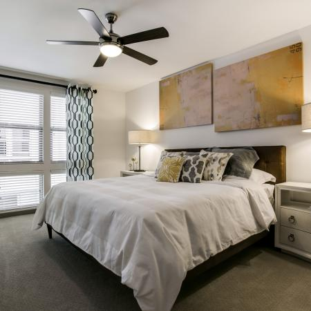 Spacious Master Bedroom | Apartments Homes for rent in Dallas, TX | Loft + Row
