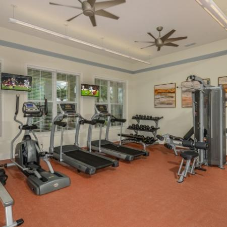 24-Hour Fitness Center with Elliptical, Treadmills, Free Weights, Universal Weight Machine in Kissimee, FL l Monterey Pointe