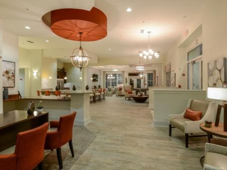 Resident Lounge with Billiards l Monterey Pointe