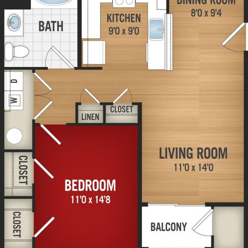 A1 - 1 Bedroom_1 Bath