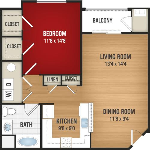 A2 - 1 Bedroom_1 Bath