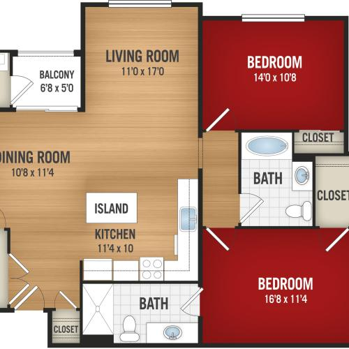 B2- 2 Bedroom_2 Baths