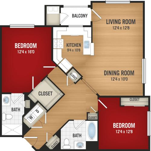 B3 - 2 Bedroom_2 Baths