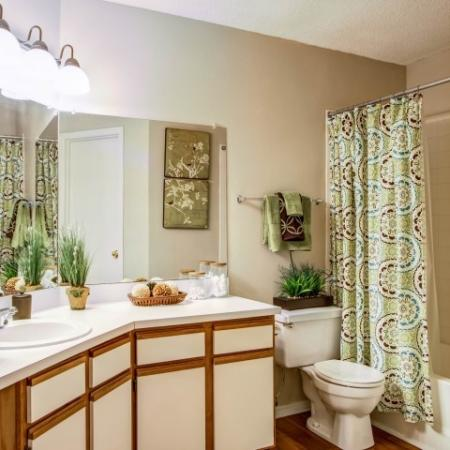 Spacious Master Bathroom | Apartments Homes for rent in Charlotte, NC | McAlpine Ridge Apartments