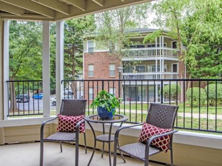 Spacious Apartment Balcony | Charlotte NC Apartments For Rent | McAlpine Ridge Apartments