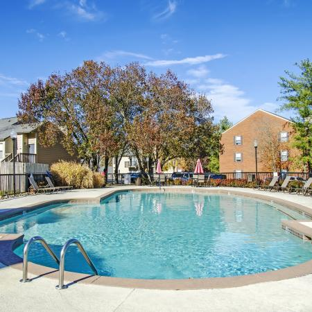 Residents Lounging by the Pool | Nashville Apartments | Bellevue West 1