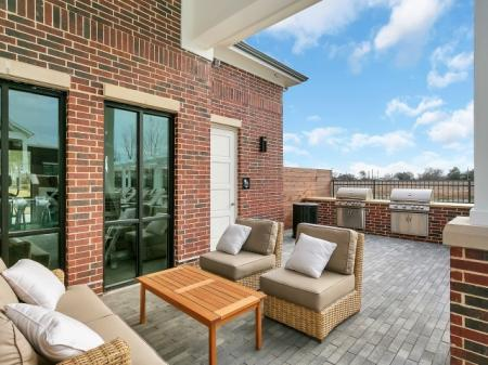 Resident Lounge by the Pool | Apartments For Rent In Mckinney TX | McKinney Village