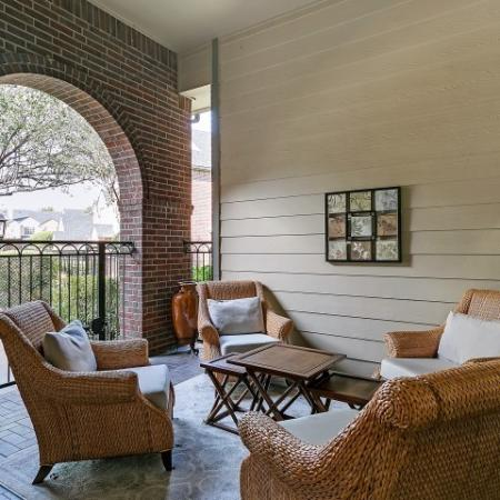 Outdoor Seating Area with Covered Porch