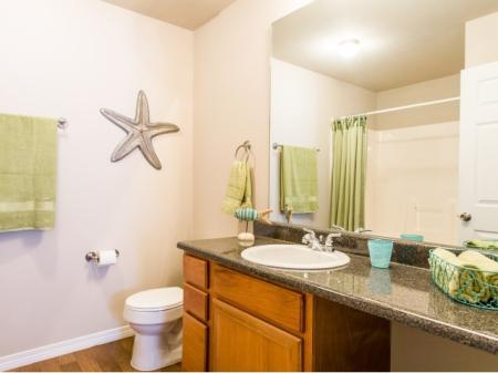 Spacious Master Bathroom | Apartments Homes for rent in Biloxi, MS | Grand Biscayne Apartments