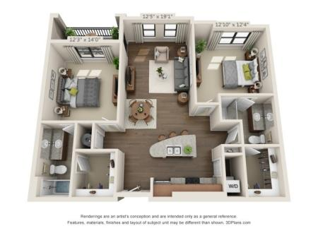 Two Bedroom Apartment | Pensacola FL | Southtowne