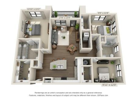 Three Bedroom Apartment | Pensacola FL | Southtowne