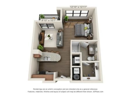 Studio Apartment | Pensacola FL | Southtowne