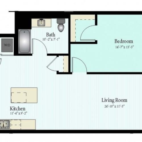 Floor Plan 15 | Apartment For Rent In Glenview IL | Midtown Square