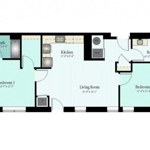Floor Plan 53 | Glenview IL Apartments | Midtown Square