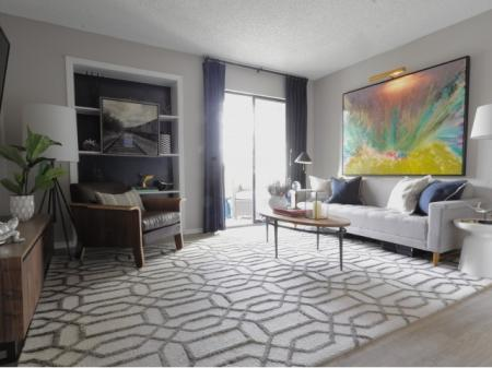 Spacious Living Room | The Lakes of Bellevue Apartments