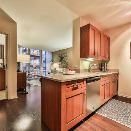 Elegant Kitchen | Apartments in Chicago, IL | 215 West Apartments