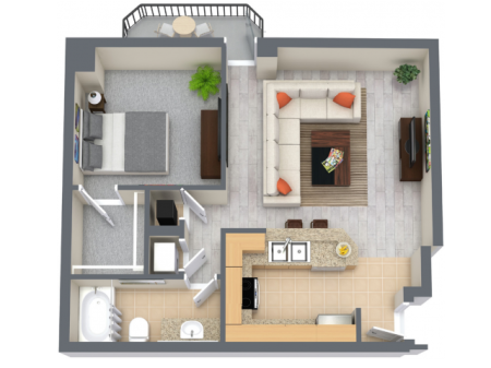 Cove 871 Square Feet One Bedroom | One Bathroom