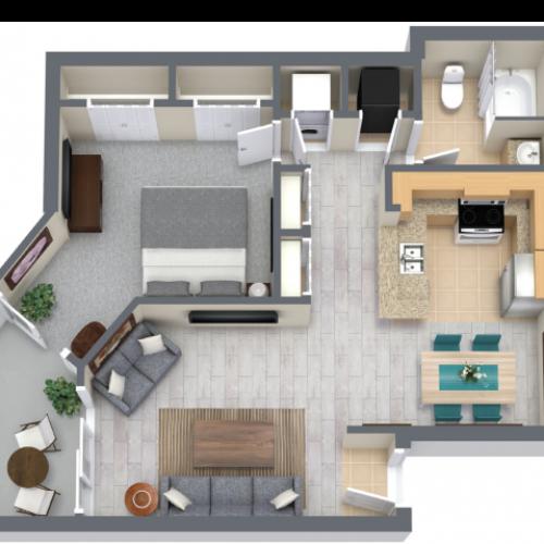 Rivera 990 Square Feet One Bedroom | One Bathroom