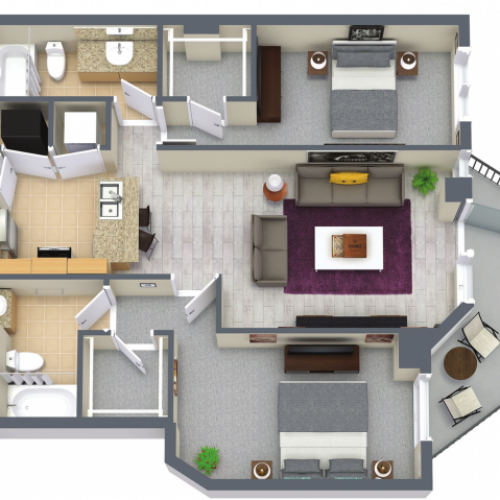 Camden 1160 Square Feet Two Bedroom | Two Bathroom