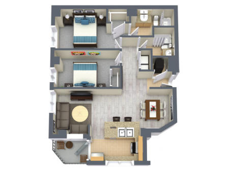 Mariner 1228 Square Feet Two Bedroom | Two Bathroom