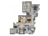 Penthouse 1812 Square Feet Three Bedroom | Two Bathroom