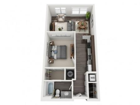 A1- ONE BEDROOM ONE BATH