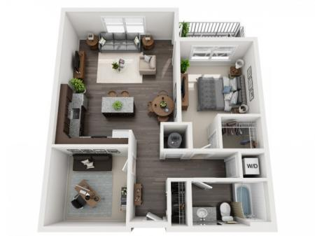 A3- ONE BEDROOM ONE BATH WITH DEN