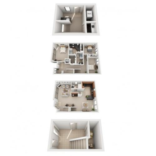 Three Bedroom Two Bathroom Floor Plan T1