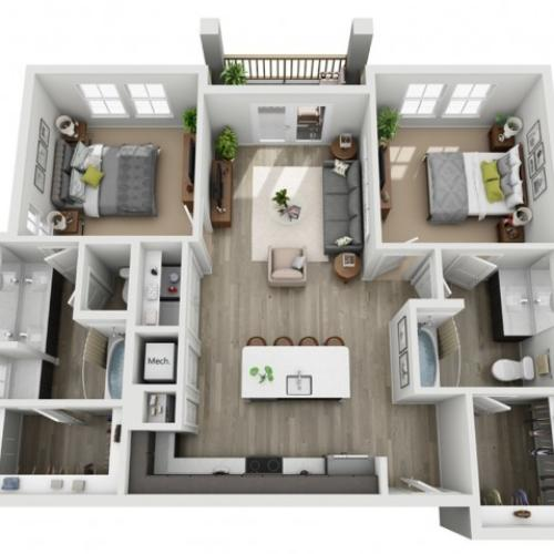Two Bedroom Apartment | Haven at Indigo Square
