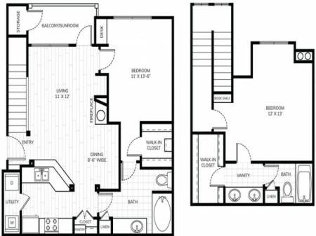 2 Bedroom 2 Bath - B3