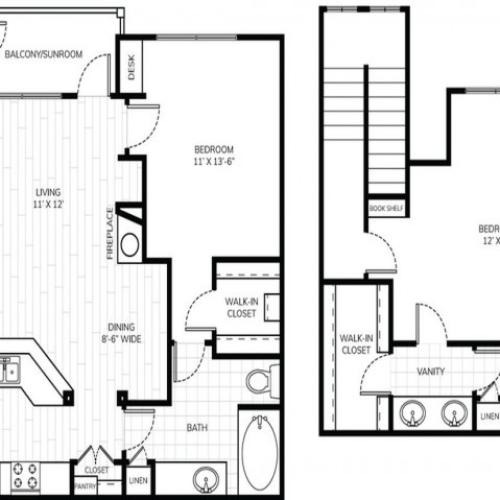 2 Bedroom 2 Bath - B3