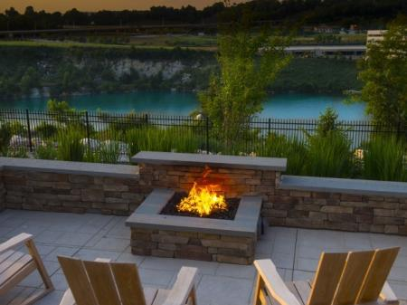 Resident Fire Pit | Malvern Pennsylvania Apartments | The Haven at Atwater Village
