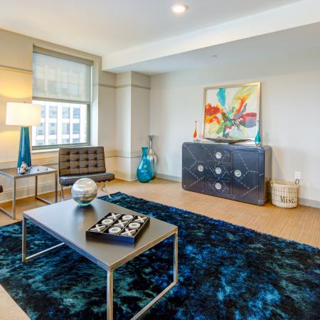 Luxurious Living Room | Cleveland Ohio Apartments for Rent | The Standard