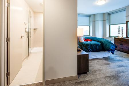 Spacious Master Bedroom | Cleveland Ohio Apartments | The Standard