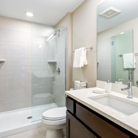 Spacious Master Bathroom | Cleveland Ohio Apartments | The Standard