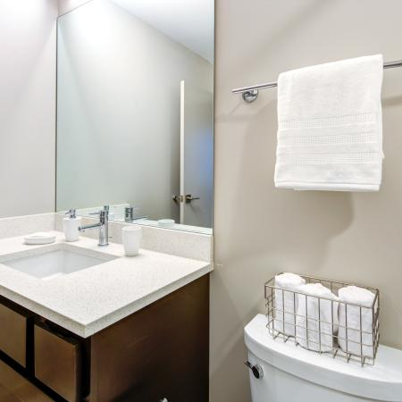 Ornate Bathroom | Apartments in Cleveland | The Standard