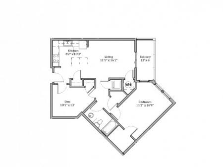 A4- ONE BEDROOM ONE BATH