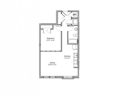 A5- ONE BEDROOM ONE BATH