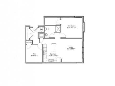 A6- ONE BEDROOM ONE BATH