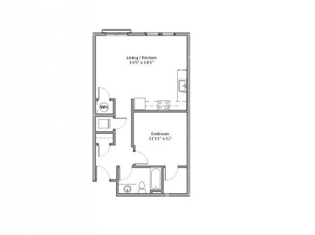 A9- ONE BEDROOM ONE BATH