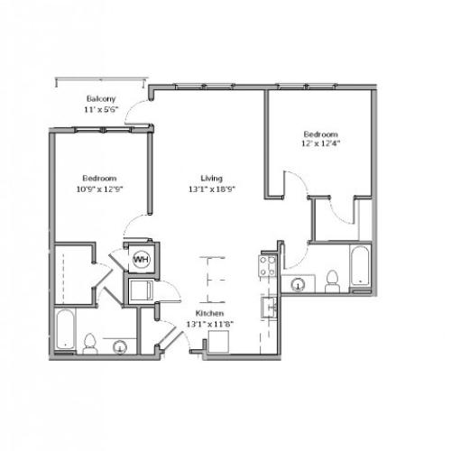 B6- TWO BEDROOM TWO BATH