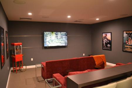 Resident Theatre Room   apartments for rent in frederick maryland   Prospect Hall