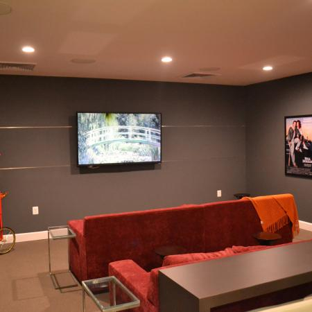Resident Theatre Room | apartments for rent in frederick maryland | Prospect Hall