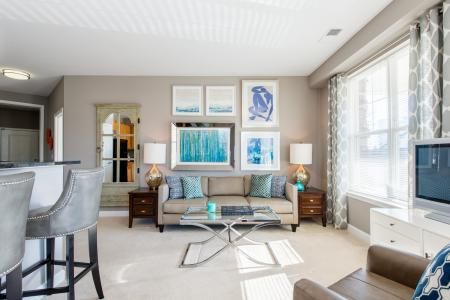 Spacious Living Room   apartments for rent in frederick maryland   Prospect Hall