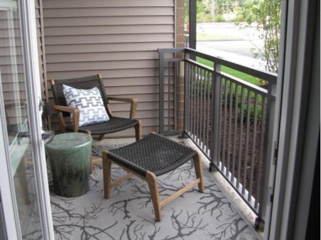 Spacious Apartment Balcony | st clair pa apartments | The Ashby at South Hills Village Station