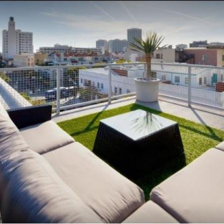 Rooftop Terrace overlooking downtown area