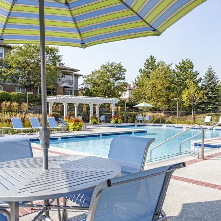Outdoor Patio with Grilling Area in Naperville | Thornberry Woods Apartment Homes
