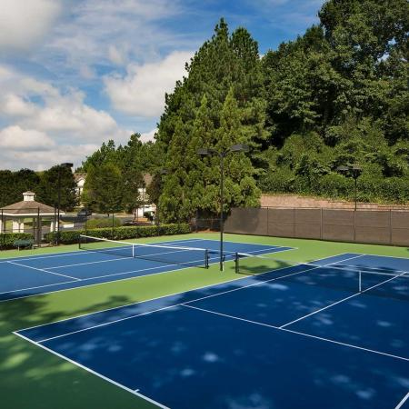 Two regulation size tennis courts