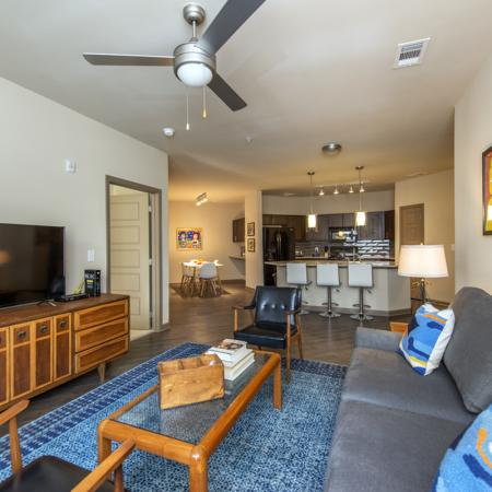 Spacious Living Area | Nashville Tennessee Apartments | 909 Flats
