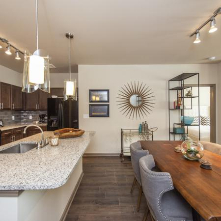 Elegant Kitchen with Large Island and Bar Seating | Apartments in Nashville | 909 Flats